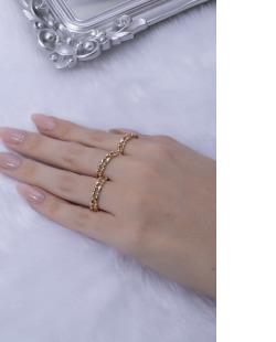 Kit de anéis dourado Ani