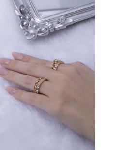Kit de anéis dourado Rain