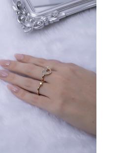 Kit de anéis dourado com strass cristal Ray