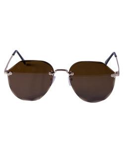 Óculos marrom com detalhes dourado Anne