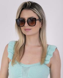 Óculos preto com detalhes dourado Mariana