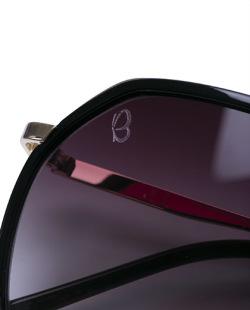 Óculos marrom com detalhe dourado Quizz