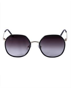 Óculos preto com detalhe dourado Cat