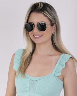 Óculos preto com detalhes prateado Ary