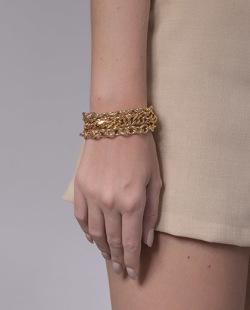 Pulseira dourada Prado