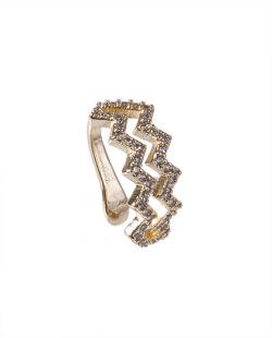 Piercing fake dourado com strass cristal Gorgia
