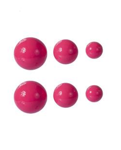 Kit 3 pares de brincos rosa Hanna