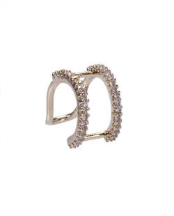 Piercing fake dourado com strass cristal Melina