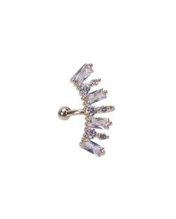 Piercing fake dourado com pedra cristal Zayn