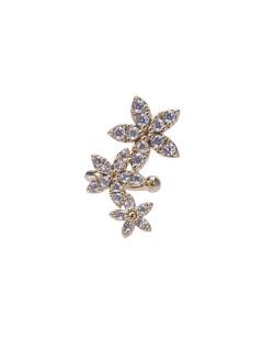 Piercing fake dourado com pedra cristal Malu