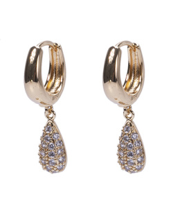 Argola dourada com strass cristal Zeeba