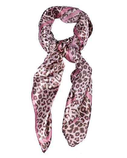 Lenço de cetim animal print rosa Krisna