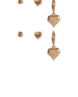 Kit 3 pares de brincos dourado Eiffel