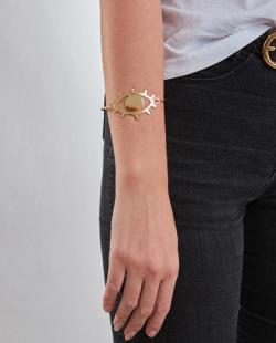 Bracelete dourado Station