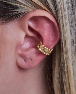 Piercing fake dourado com strass cristal Mila