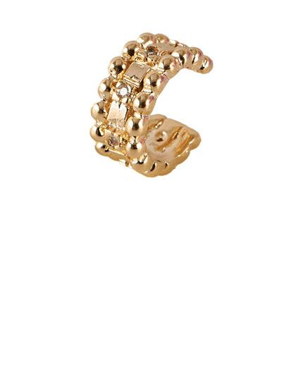 Piercing fake dourado com strass cristal Madison