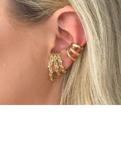 Piercing fake dourado Savana