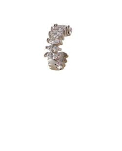 Piercing fake prateado com pedra cristal Lindt