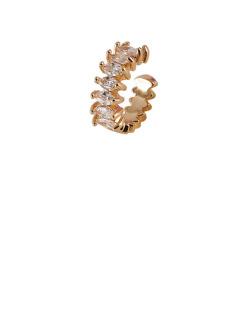 Piercing fake dourado com pedra cristal Lindt