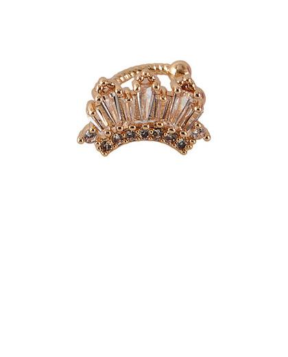 Piercing fake dourado com pedra cristal Guffi