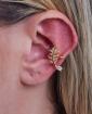 Piercing fake dourado com pedra cristal Live