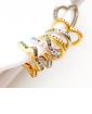 Piercing fake dourado com strass colorido Kyra