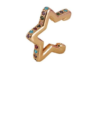 Piercing fake dourado com strass colorido Jazz