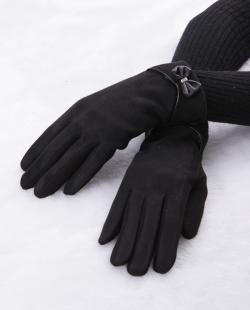 Luva de tecido preta Lisboa