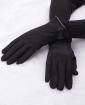 Luva de tecido preta Suíça