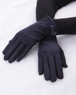 Luva de tecido azul Suíça