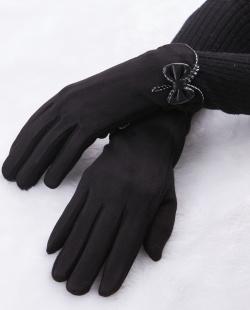 Luva de tecido preta Bravón