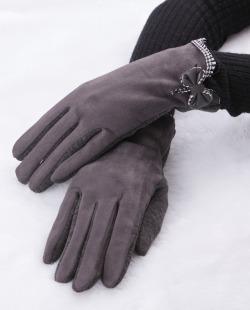 Luva de tecido cinza Bravón