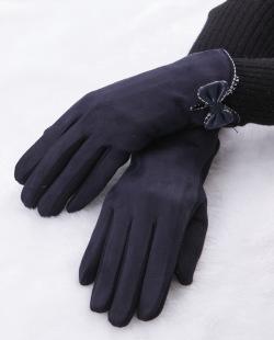 Luva de tecido azul Bravón