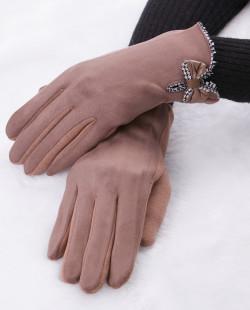 Luva de tecido marrom Bravón
