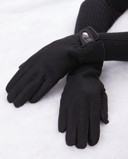 Luva de tecido preta Nine