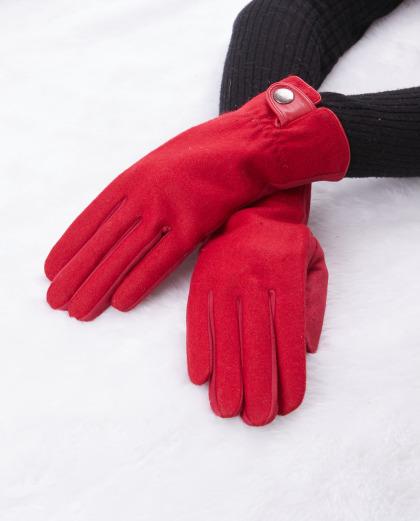 Luva de tecido vermelha Nine
