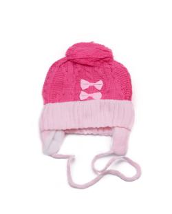 Gorro e cachecol infantil rosa Peppa