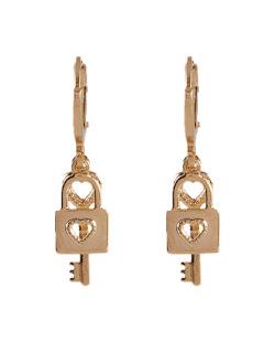 Argola folheada dourada Key
