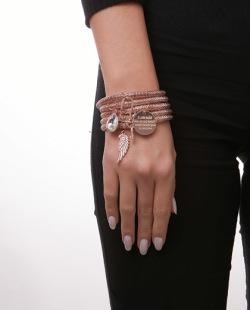 Kit 5 pulseiras rosé Seph