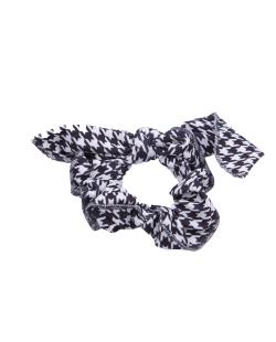 Laço de tecido preto e branco Mia