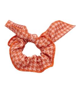 Laço de tecido laranja Mia