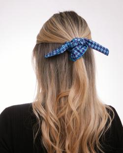 Laço de tecido azul Mia