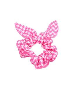 Laço de tecido rosa e branco Mia