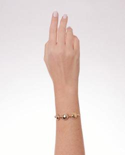 Bracelete folheado dourado Beta