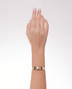 Bracelete folheado dourado e preto Jelly