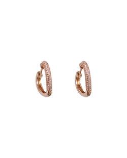 Argola dourada com strass cristal Ring