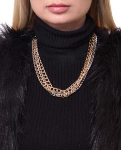 Colar dourado e prata Jess