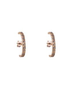 Ear cuff folheado dourado com strass cristal Lexa