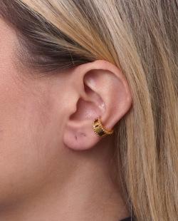 Piercing fake dourado Versacce