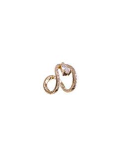 Piercing fake dourado com pedra cristal Elise